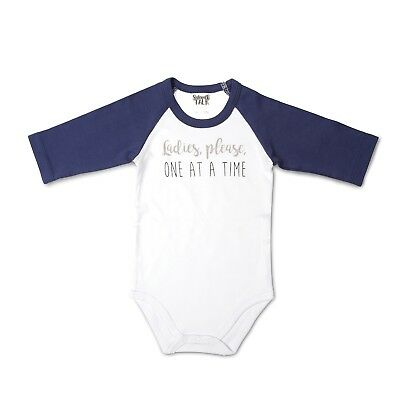 Infant's Babies With Attitude 3/4 Sleeve Snapsuit - Ladies, Please One at a Time