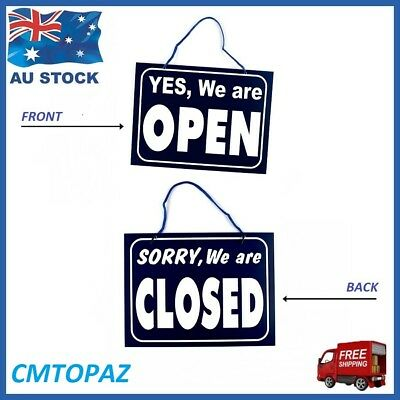 Yes, We Are Open - Sorry, We Are Closed Sign Shop Door Restaurant Window Sign