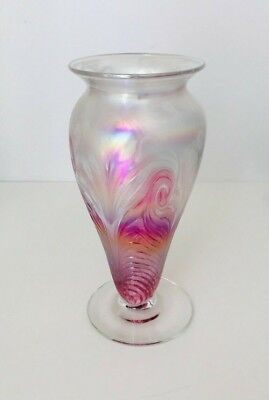 Ron Hinkle Signed Art Glass Vase 2007