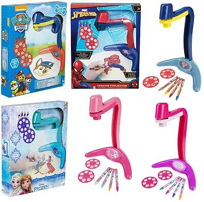 Kids Tracing Projector w Disks,Crayons Colour Character Fun Activity Game Toy 3+