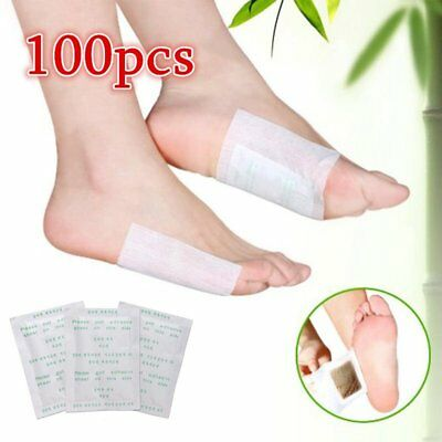 100 PCS Detox Foot Pads Patch Detoxify Toxins Fit Health Care Detox Pad wu