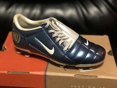 c5fd55f5c NIKE TOTAL 90 III Mens 7 SOCCER SHOES Indoor Training NAVY BLUE ...