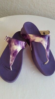 c270f2f037c3 FITFLOP Superjelly Toe-Thong Sandal-Electric Indigo Tie Dye-Size 5-EUC
