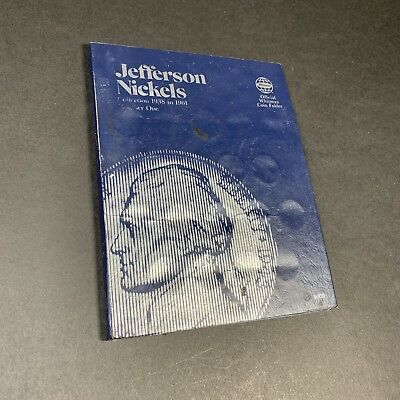 Jefferson Nickels Incomplete 1938 to 1961 Official Whitman Coin Folder #1 9009