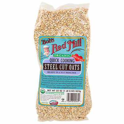 Bobs Red Mill Organic Quick Cooking Steel Cut Oats - 22 Ounces Powder
