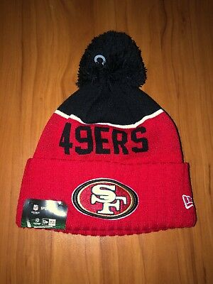 496fa90607bfb San Francisco 49ers New Era Knit Hat NFL Sideline Gear FREE SHIPPING!