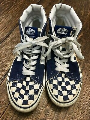 b92e554e12 VANS OFF THE Wall mens size 6 womens size 7.5 Old Skool Hi-Top shoes ...