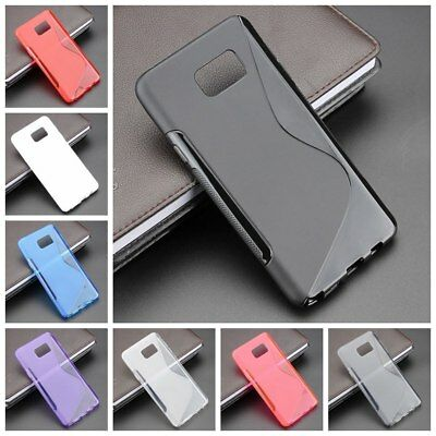 For Samsung Galaxy Note 5 Case Cover S Line Silicone Gel Skin Anti-Slip