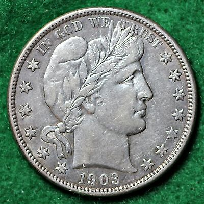 1903-O BARBER HALF DOLLAR in EXTREMELY FINE (EF) CONDITION