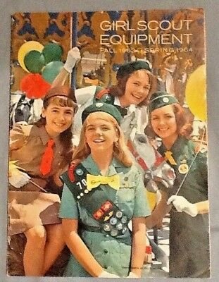 1963-64 Girl Scout CATALOG, NEW Handbooks Issued, Gifts, Dolls, Camping Uniforms