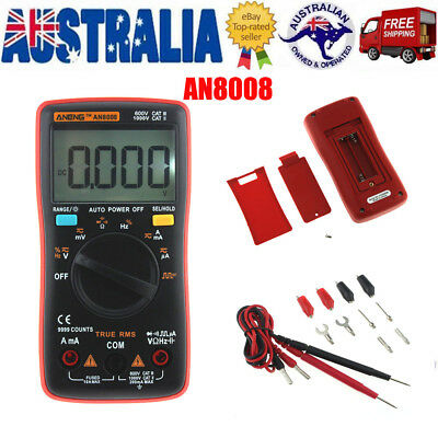 AN8008 Electrical LCD Digital Clamp Meter Multimeter RMS AC/DC OHM Multi Tester
