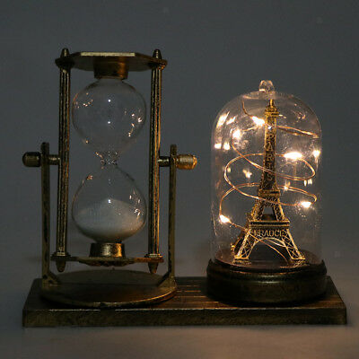 Sand Timers-Combination of Tower and Sand Hourglass Ornament-Golden