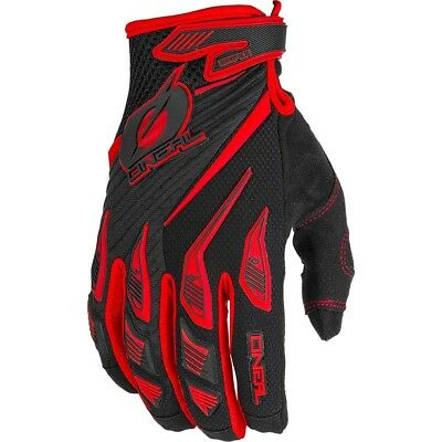 NEW Oneal 2019 MX Gear Sniper Elite Black Red Dirt Bike Motocross Gloves