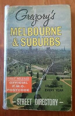 Gregory's Melbourne & Suburbs Street Directory 2nd Edition 1967