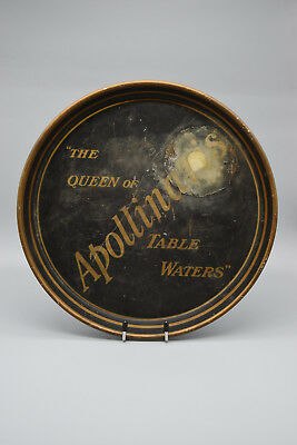 """Rare Pre-Prohibition Apollinaris Serving Tray, """"The Queen of Table Water"""" 1900's"""