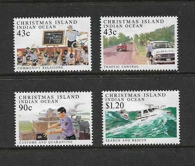 1991 POLICE FORCE, CHRISTMAS ISLAND, mint set of 4, MNG