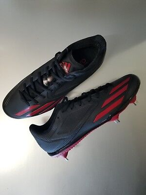low priced 38453 fe021 NEW Adidas Adizero Afterburner 3 Men s Size 9 Metal Baseball Cleats Black  Red
