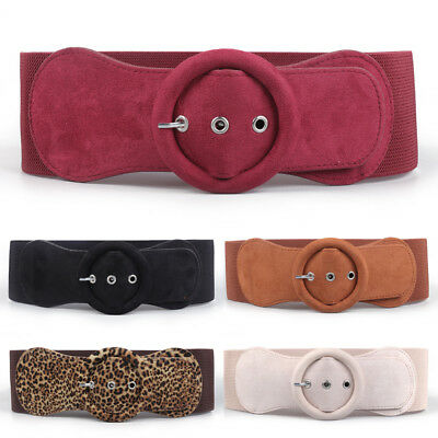 Wide Velvet Dress Belt Elastic Waistband Stretch Bowknot Buckle Bow Women Girls