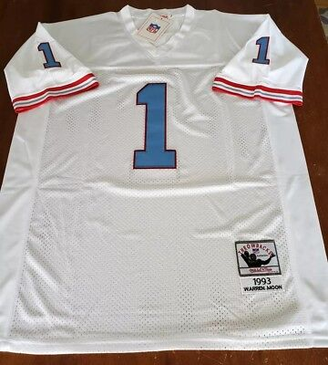 2700420b0 Warren Moon Houston Oilers White Throwbacks Authentics Jersey sz.54(XXL) NWT !