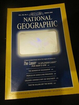 National Geographic Magazine March 1984 The Laser The Wonder of Holography