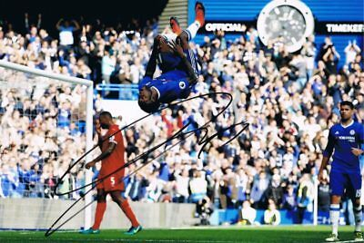 Signed Victor Moses Chelsea Autograph Photo Nigeria Fenerbahce Palace Wigan