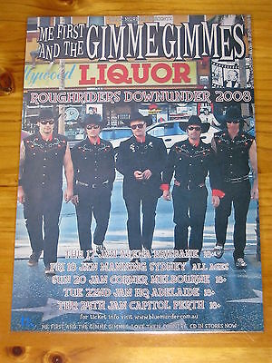 ME FIRST AND THE GIMME GIMMES  - Australian Tour 2008  -  Laminated Promo Poster