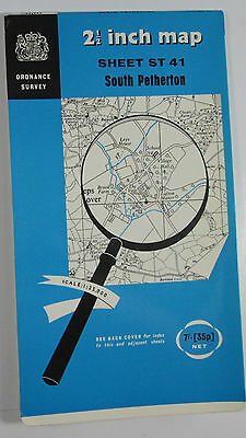 1961 old OS Ordnance Survey 1:25000 First Series map ST 41 South Pemberton