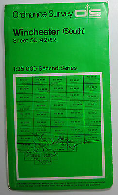 1976 OS Ordnance Survey Second Series Pathfinder Map SU 42/72 Winchester (South)