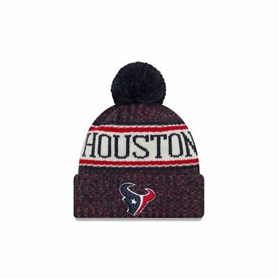 low priced b2ede b82f5 NEW ERA Houston Texans NFL sideline knit bobble beanie hat  Navy red