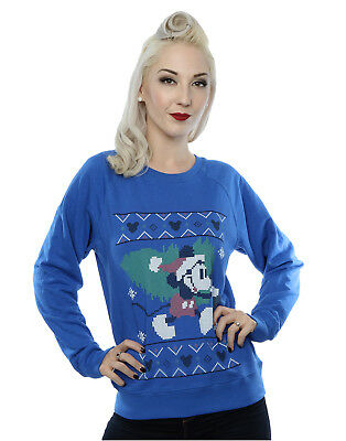 9b104e5a5c5 DISNEY FEMME MICKEY Mouse Christmas Tree Sweat-Shirt - EUR 33