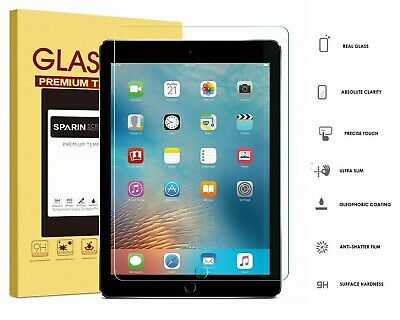 100% Genuine TEMPERED GLASS Screen Protector Cover for New Apple iPad 9.7 (2017)