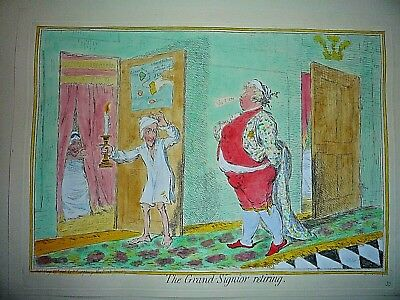 "James Gillray "" The Grand Signior Retiring ."""