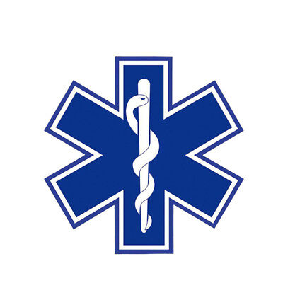 STAR OF LIFE 10x10 cm vinyl sticker car