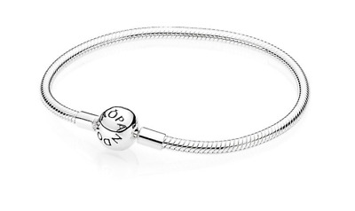 Genuine Sterling Silver PANDORA Moments SMOOTH SILVER Clasp + Free Pandora pouch