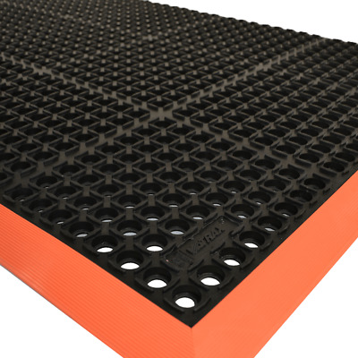 Oilzone Matting - Various Sizes - Black/Red