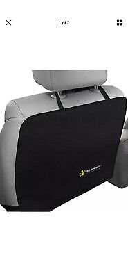 Tike Smart Luxury Clean-Edge Kick Mat - Seat Back Protector and Cover - Black