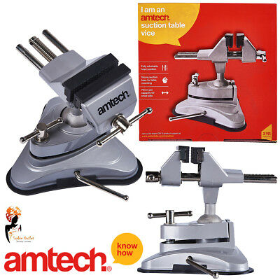 Suction Table Vice Clamp Strong Cup Base Hobby Craft Electronics Amtech D3425