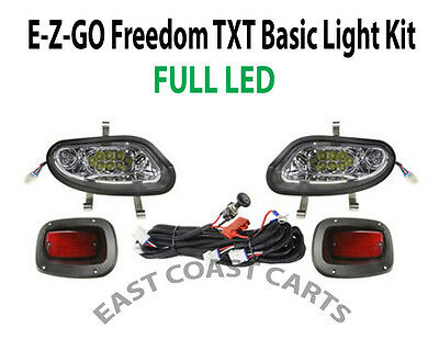 EZGO TXT Valor/Freedom (2014+) Basic Light Kit LED Headlights w/ LED Taillights