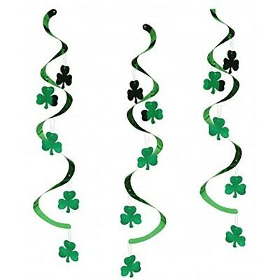 St Patricks Banner Decoration Paddys Day Hanging Swirl Garland Irish Fancy Dress