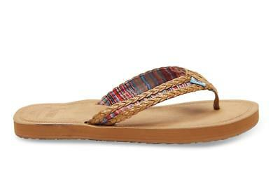 05f533fb9e491 Toms Sandals Womens Solana Flip Flop in Sand Pink Braided Choose Your Size