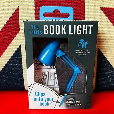 The Little Book Light - Blue. LED Reading Light. Clips onto your book ..*New*