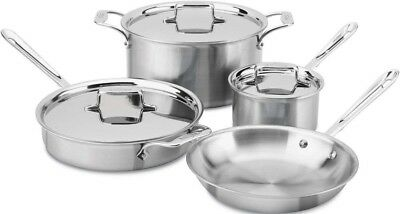All-Clad d5 Brushed Stainless Steel Cookware Set, 7 Piece **NEW**