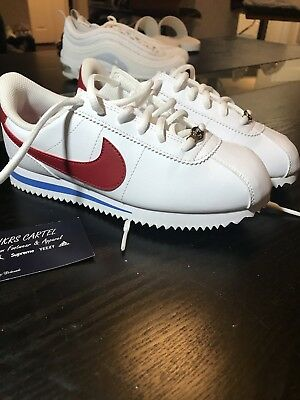 the latest 7d6ad b4c8d Nike Cortez Basic SL White Red Blue Size 4Y US Grade School GS 904764-103
