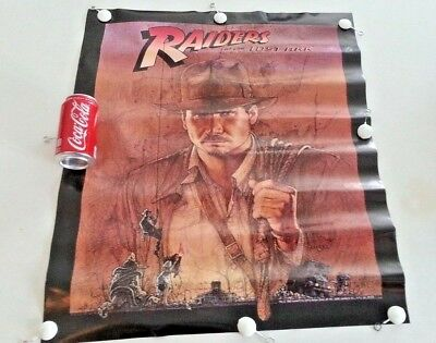 1981 Indiana Jones Raiders Of The Lost Ark Harrison Ford Promo Movie Poster