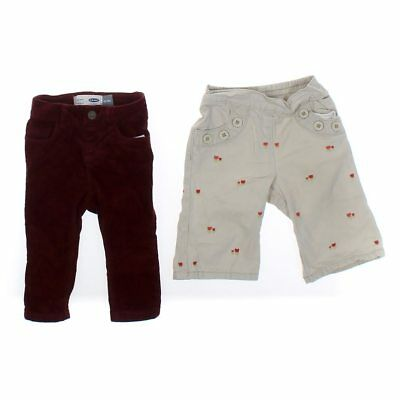 502a0ce6050f49 BABY GIRLS TRENDY Pants Set, size 3 mo, white, maroon, cotton ...