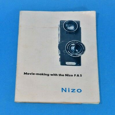 Braun NIZO FA3 1960s cine instructions in ENGLISH Mi 1/363 30 numbered pages