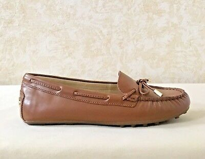WMN MK Michael Kors Daisy Moccasin/Flat Cushioned Slip-On Leather Luggage Brown