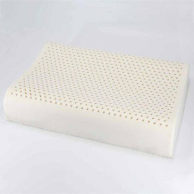 Safe Natural Latex Breathable Comfortable Stereotypes Pillow Flat Wave Pillow ♚⚡