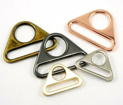 """Emmaline Triangle rings 38mm/1 1/2"""" - range of finishes - for bags & crafts 2pk"""