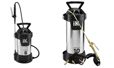 iK Inox Pressure Sprayer for Carpet and Upholstery Cleaning - Litres: 6L 10L